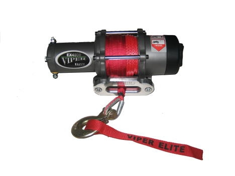 4000 lb Viper Elite Winch with Synthetic Rope