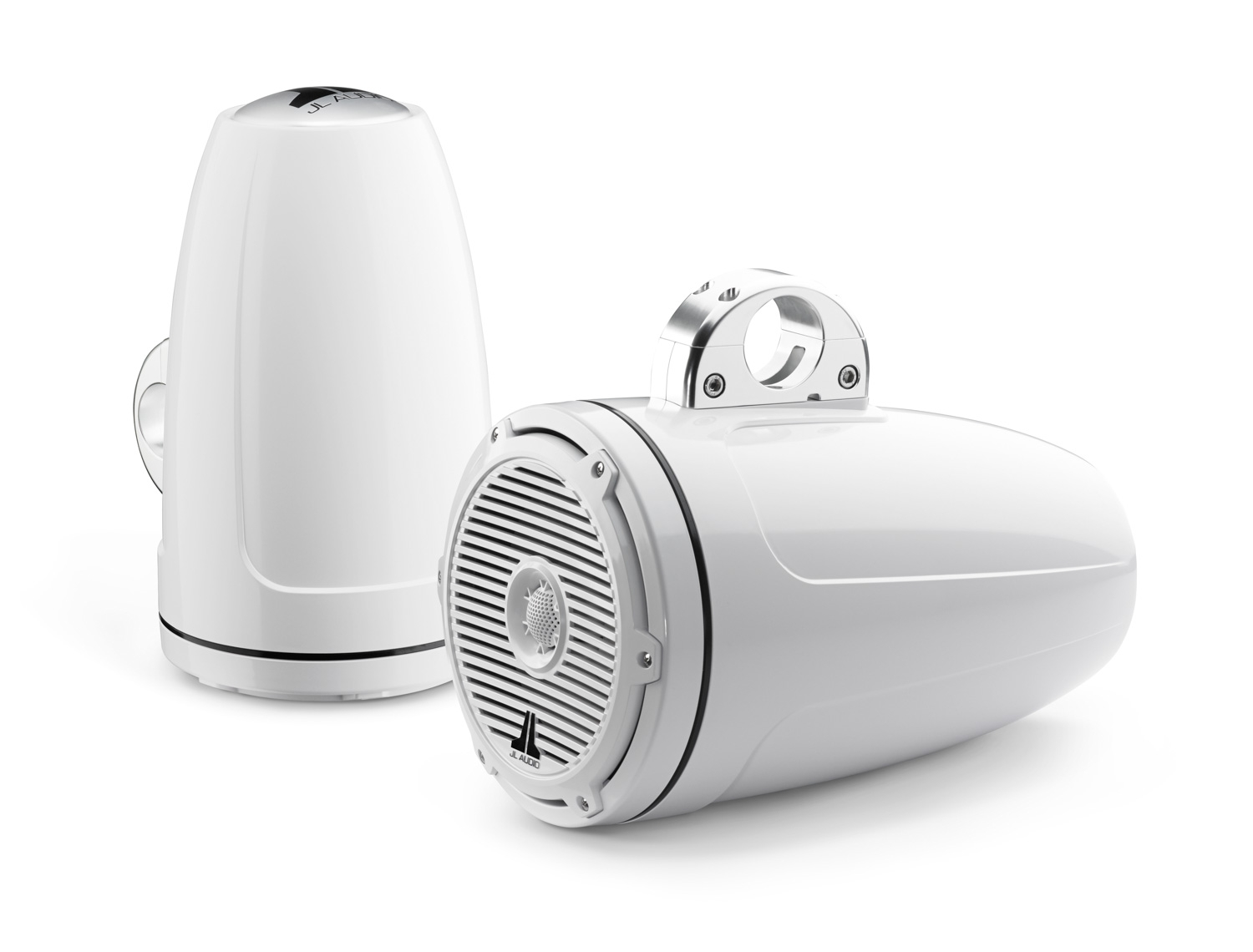 JL M880-ETXv3-CG-WH: 8.8-inch (224 mm) Enclosed Tower Coaxial System, White Gel-Coat, White Classic Grilles