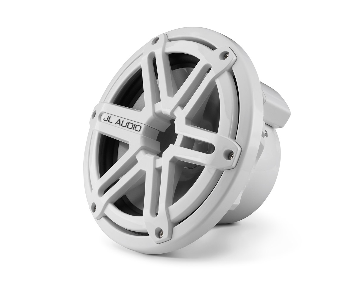 JL Audio M770-TCW-SG-WH: 7.7-inch (196 mm) Tower Component Woofer, White Sport Grille