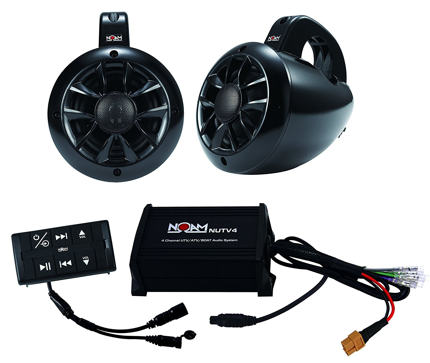 NOAM NUTV4 - Marine Bluetooth ATV / Golf Cart / UTV Speakers Stereo System