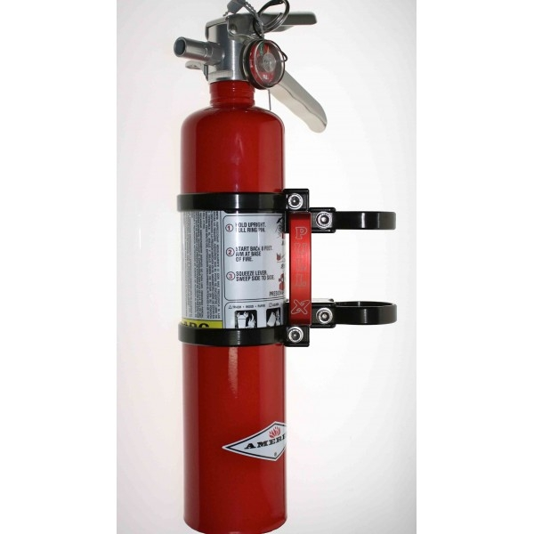 Quick release fire extinguisher mount w/ 2.5lb extinguisher