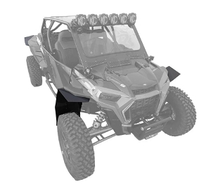 Mudbusters POLARIS RZR MAX COVERAGE FENDER EXTENSIONS FOR SUPERATV FENDERS