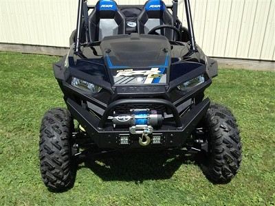 EMP RZR Extreme Front Bumper / Brush Guard with Winch Mount (XP1K and 2015 RZR 900) With LED Lights