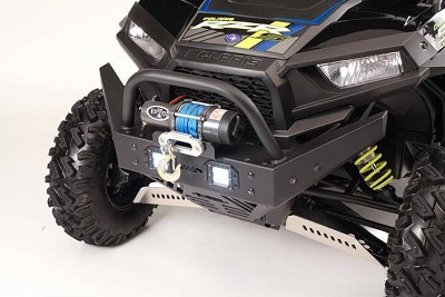 EMP RZR Extreme Front Bumper / Brush Guard with Winch Mount (XP1K, 2016-18 RZR 1000-S and 2016-18 RZR 900) With LED Lights