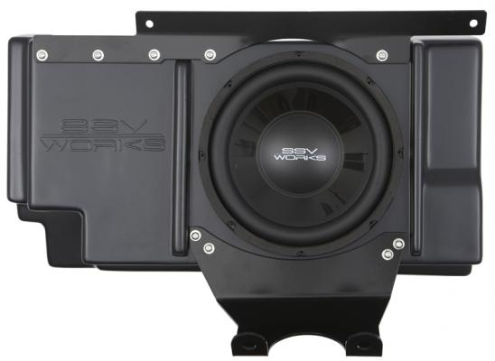 SSV Works Polaris RZR XP 1000 / XP 4 1000 Behind Seat Weather Proof Sub Box with Amplified 10