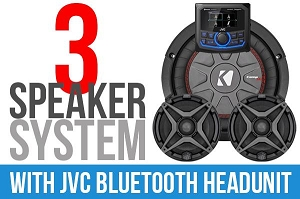 2020+ Polaris Pro XP Complete SSV Works 3-Speaker Plug-&-Play Kit with JVC