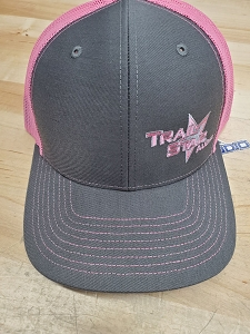 Pink and Grey Snap back hat