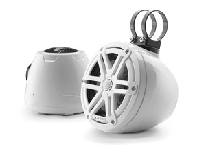 JL Audio 6.5-inch (165 mm) Enclosed Coaxial System, Gloss White Enclosure, Gloss White Sport Grilles