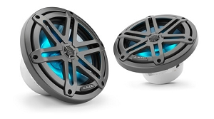 JL Audio 7.7-inch (196 mm) Marine Coaxial Speakers, Gunmetal Sport Grilles with RGB LED Lighting
