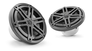 JL Audio 7.7-inch (196 mm) Marine Coaxial Speakers, Gunmetal Sport Grilles