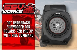 Polaris RZR Pro XP Under Dash 10in Subwoofer Enclosure for Ride Command