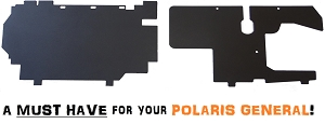 Mudbusters POLARIS GENERAL BATTERY & GAS TANK PROTECTION PANELS