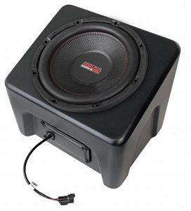 SSV Works POLARIS RANGER XP1000 2018 AND UP WEATHER PROOF AMPLIFIED UNDERSEAT SUBWOOFER
