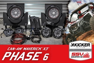 SSV Works CAN-AM MAVERICK X3 COMPLETE KICKER 6 SPEAKER PLUG-AND-PLAY SYSTEM