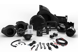 Rockford RZR RZR14-STAGE4  400 Watt Stereo, Front and Rear Speaker, and Subwoofer Kit for Select Polaris® RZR® Models