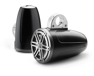JL Audio 7.7-inch (196 mm) Enclosed Tower Coaxial System, Satin Black Enclosure, Gunmetal Sport Grille