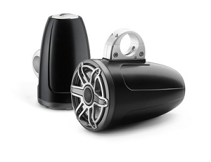 JL Audio 7.7-inch (196 mm) Enclosed Tower Coaxial System, Satin Black Enclosure, Gunmetal Trim Ring, Titanium Sport Grille