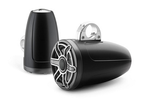 JL Audio 8.8-inch (224 mm) Enclosed Tower Coaxial System, Satin Black Enclosure, Gunmetal Trim Ring, Titanium Sport Grille