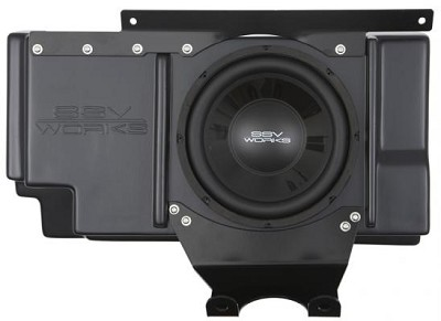 "SSV Works Polaris RZR XP 1000 / XP 4 1000 Behind Seat Weather Proof Sub Box with Amplified 10"" woofer"