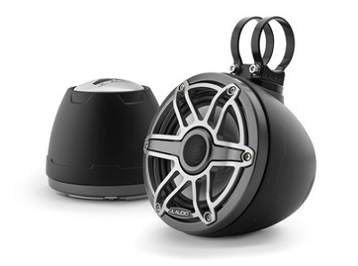 JL Audio M6 Vex 6.5-inch (165 mm) Enclosed Coaxial System, Matte Black Enclosure, Gunmetal Trim Ring, Titanium Sport Grille