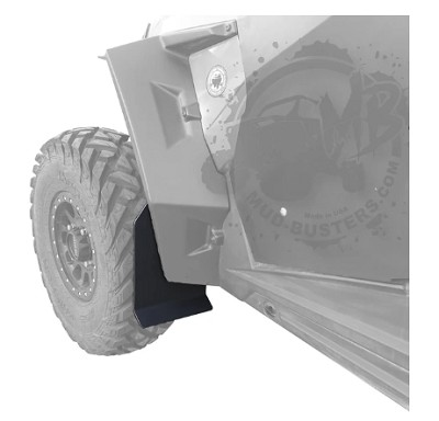 Mudbusters SHORT MUD FLAPS FOR POLARIS DOUBLE XL FENDERS