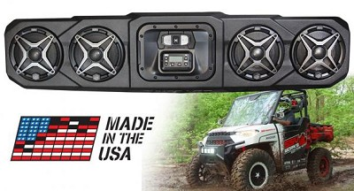 SSV Works WP3-RG34O4 - POLARIS RANGER BLUETOOTH 4 SPEAKER OVERHEAD WEATHER PROOF SOUND BAR