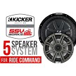 SSV Works POLARIS RZR TURBO S COMPLETE KICKER 5 SPEAKER PLUG-AND-PLAY KIT FOR POLARIS RIDE COMMAND SYSTEMS